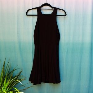 silence + noise UO Black Backless Mini Dress